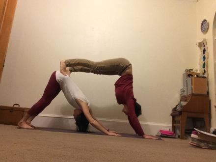 Penny & Morgan - Yoga pose