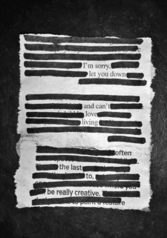 Violet Raven Creations - Blackout Poem